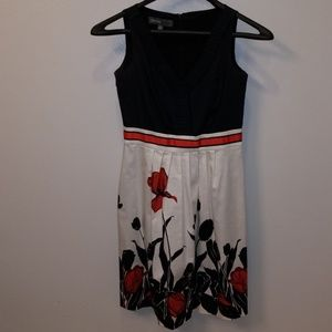 Donna Ricco Pleated 50s Party Dress w/Pockets